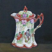 Porcelain Coffee Pot for Two